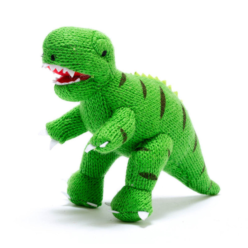 Mini Green T-Rex Dinosaur Rattle