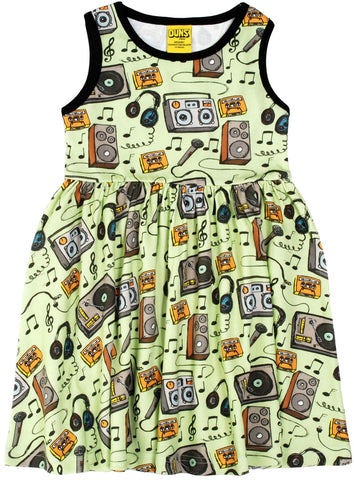 Duns Music sleeveless dress w gather skirt