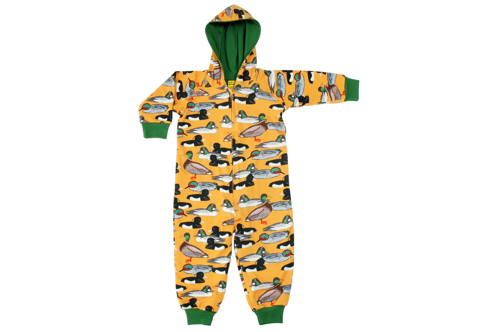 Duns mustard duck pond Hooded Suit Onesie