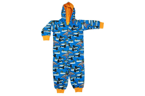 Duns Blue Duck Pond Hooded Suit Onesie