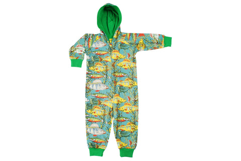 Duns Seaweed Dark Teal Hooded Suit Onesie