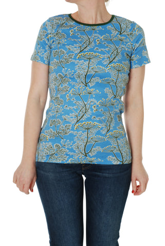 Adult Duns Dill Blue Short Sleeve Top