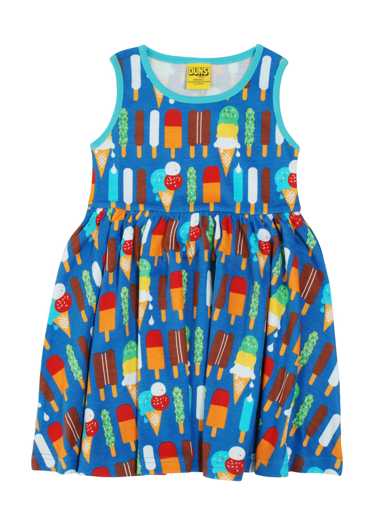 Adult Duns Icecream Blue Sleeveless Gather Dress