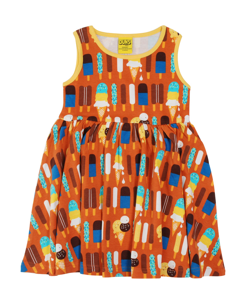 Adult Duns Icecream Pumpkin Sleeveless Gather Dress