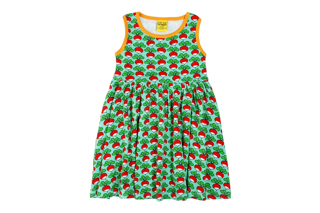 Adult Radish Mint Sleeveless Dress w gather skirt