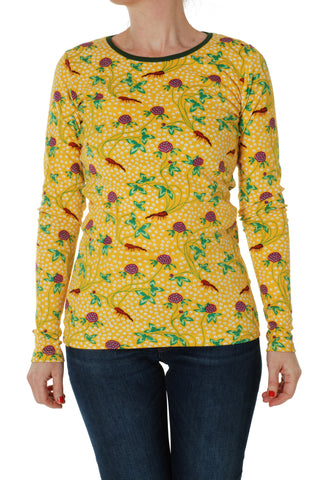 Adult Duns Red Clover Long Sleeve Top