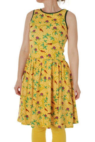 Adult Duns Red Clover Sleeveless Gather Dress
