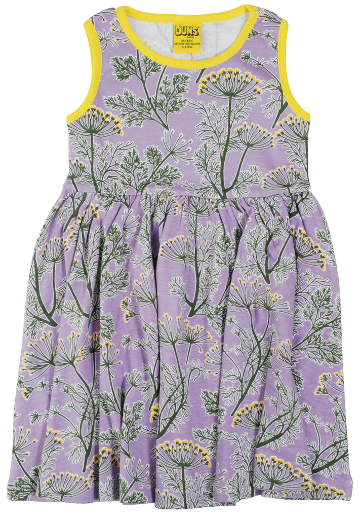 Duns Dill Violet Sleeveless Gather Dress