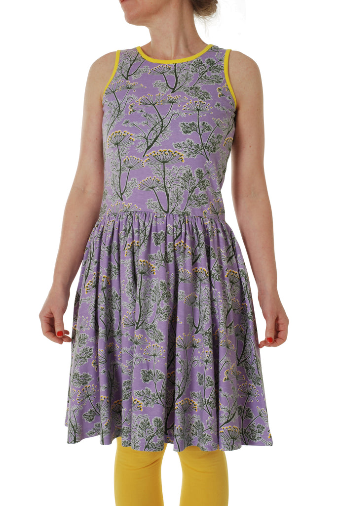 Adult Duns Dill violet Sleeveless Gather Dress