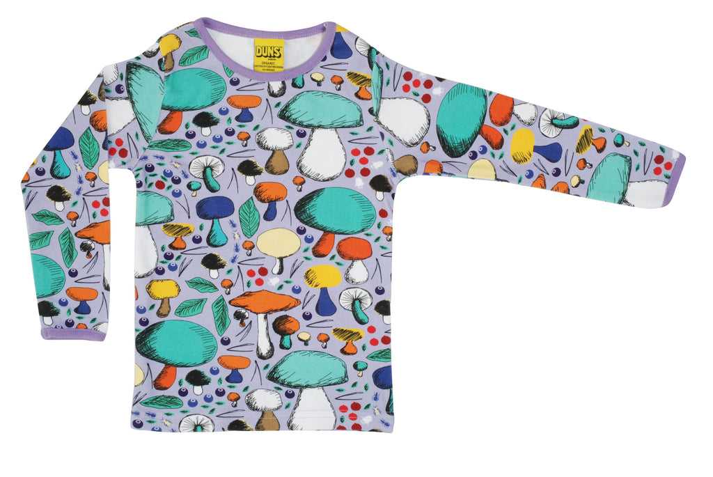 Duns Mushroom Forest Violet Long Sleeve Top