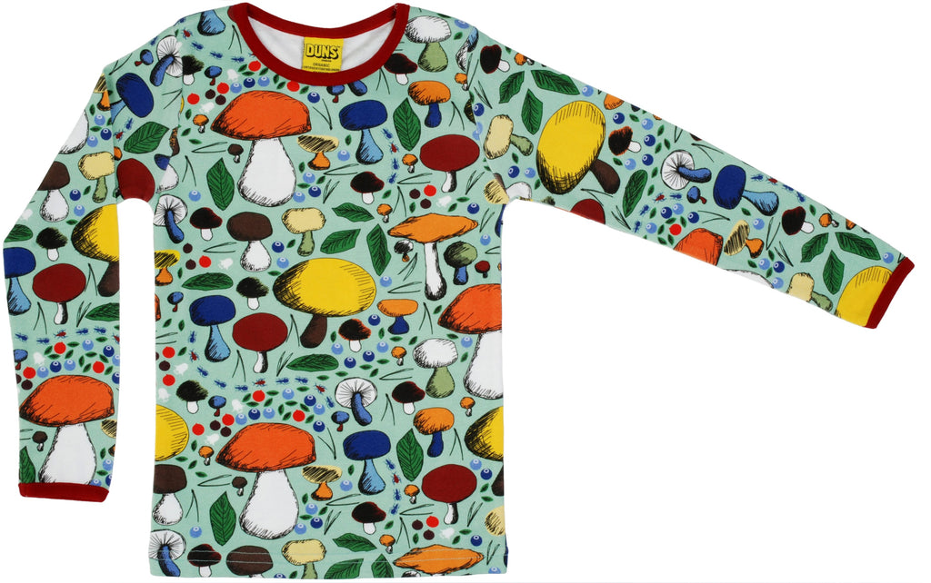 Duns Mushroom Forest Jade Long Sleeve Top