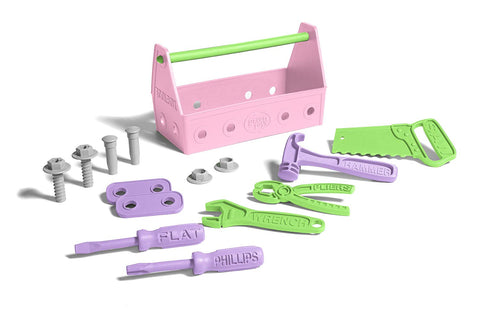 Toolbox Green Toy Pink and Purple