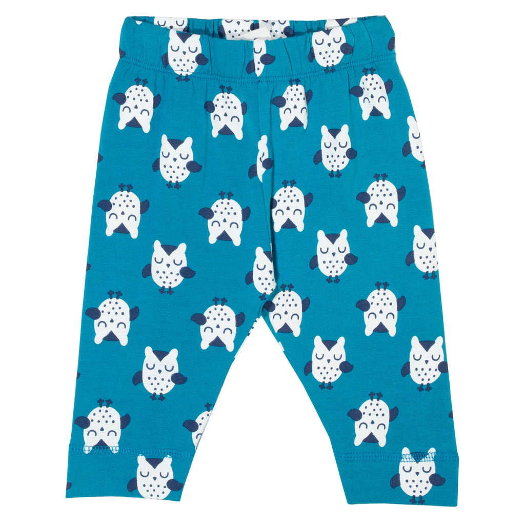 Kite Owl leggings blue (GOTS)