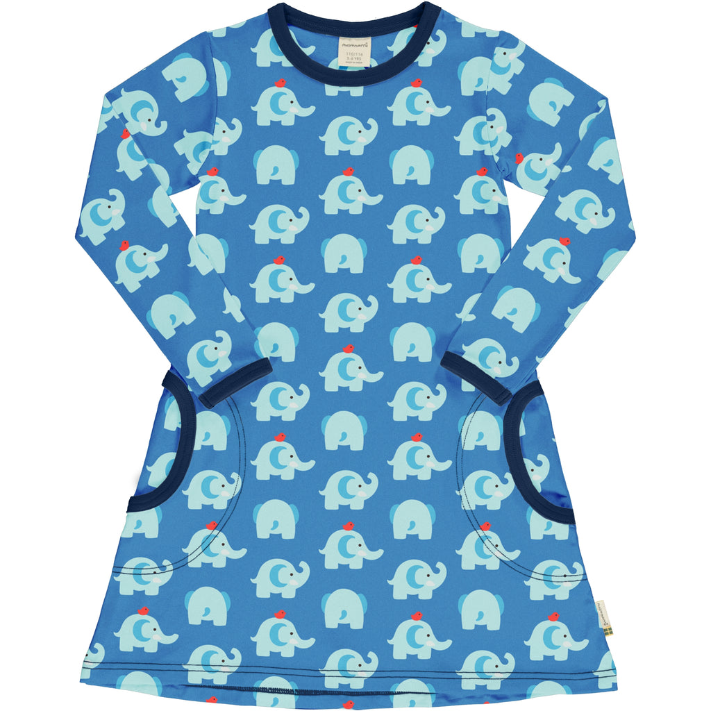 Elephant Friends Long Sleeve Dress