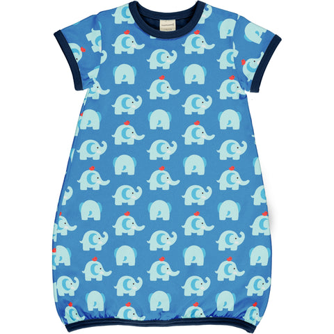 Elephant Friends Dress Balloon Short Sleeve