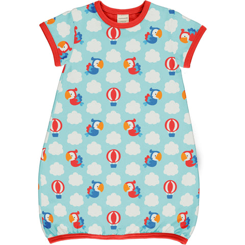 Parrot Safari Dress Balloon Short Sleeve