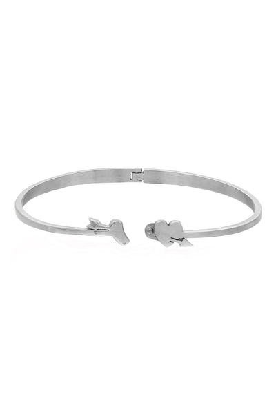 Duo Heart and Arrow Stainless Steel Love Bangle/Bracelet in Shinny and Matte finish, Love Bracelet, Svvelte - Svvelte