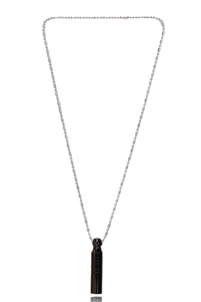 Buy Couple Jewellery, Named Svvelte Unisex/ Love Chain Set of 2 Stainless Steel Black Whistle Pendants With Stainless Steel Chains, from Svvelte, for Rs. 34.99