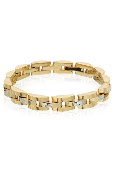 Golden and Rhodium Finish Men Bracelet, Men Bracelet, Svvelte - Svvelte