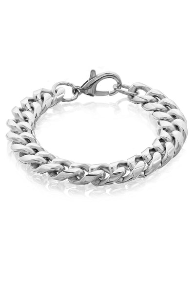 Chunky 11mm Stainless Steel Curb Link Bracelet For Men, Men Bracelet, Svvelte - Svvelte