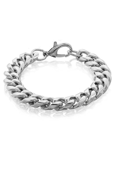 Buy Men Bracelet, Named Chunky 11mm Stainless Steel Curb Link Bracelet For Men, from Svvelte, for Rs. 32.99