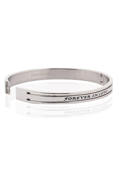 Solid Stainless Steel Bracelet with engraved details, Men Bracelet, Svvelte - Svvelte