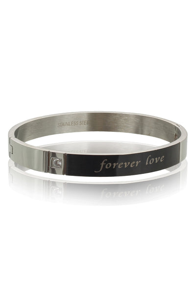 Solid Stainless Steel Bracelet for Men with a Zircon and message, Men Bracelet, Svvelte - Svvelte