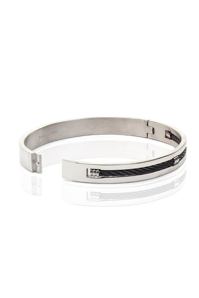 Buy Men Bracelet, Named Solid Stainless Steel Men Bracelet with a Braided Design, from Svvelte, for Rs. 33.99