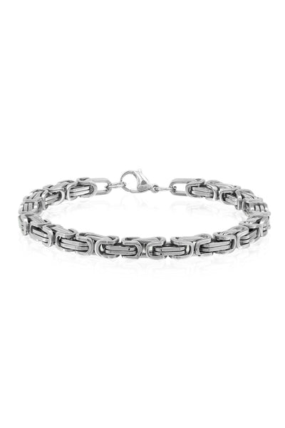 Stainless Steel Chunky and Unique Curb Bracelet For Men, Men Bracelet, Svvelte - Svvelte