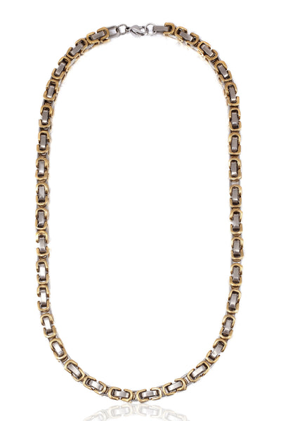 Buy Men Chain, Named Solid Stainless Steel Two Colour Men Chain Necklace, from Svvelte, for Rs. 44.99