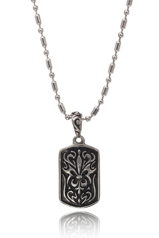 Buy Men Chain and Pendant, Named Stainless Steel Men's Military Link Chain with a  Duo coloured Stainless Steel Military design in a Black coloued Pendant, from Svvelte, for Rs. 34.99