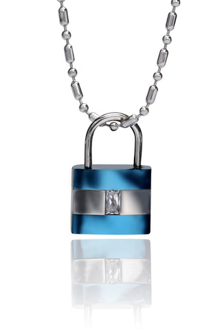 Buy Men Chain and Pendant, Named Svvelte Men Steel Chain with lock Pendant, from Svvelte, for Rs. 29.99