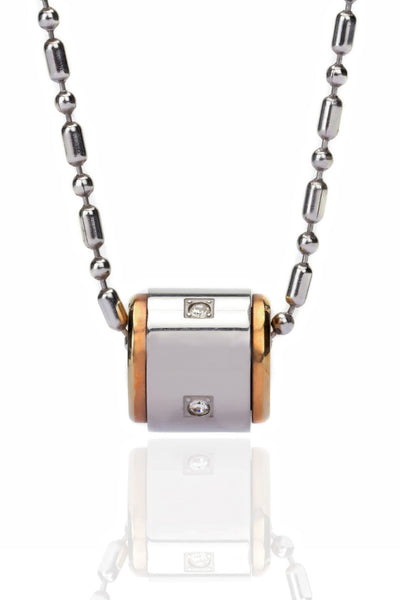 Svvelte Cyliderical band and Zircon Chain with Pendant, Men Chain and Pendant, Svvelte - Svvelte