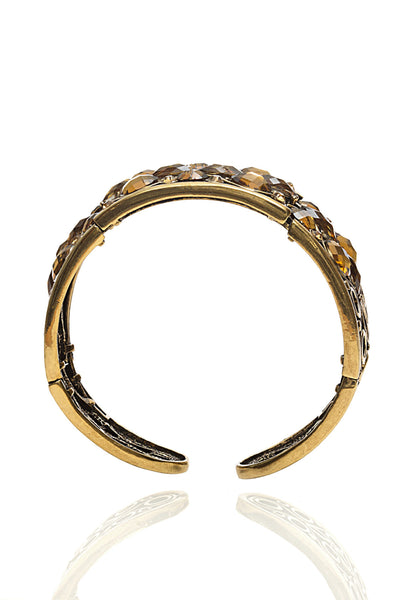 Svvelte Gold Toned Swarovksi Bangle/Bracelet, Women Bracelet, Svvelte - Svvelte