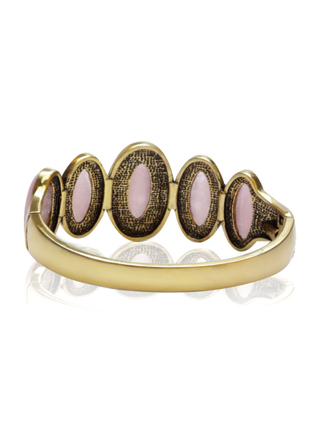 Buy Women Bracelet, Named Svvelte Gold Toned Pink Swarovksi and Stone Bangle/Bracelet, from Svvelte, for Rs. 24.99