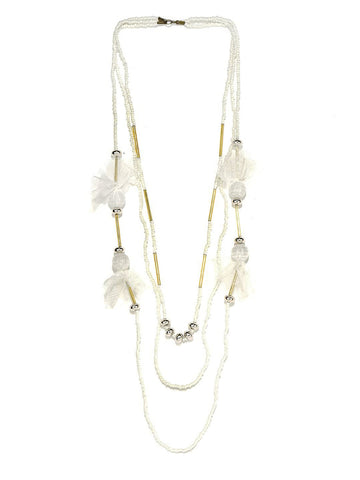 Svvelte White Pearl and Lacy Chain, Women Chain, Svvelte - Svvelte