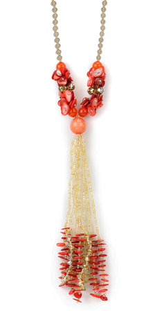 Svvelte Orange and Red coloured Chain, Women Chain, Svvelte - Svvelte