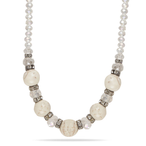 Svvelte White Stone Chain with Zircons, Women Chain, Svvelte - Svvelte