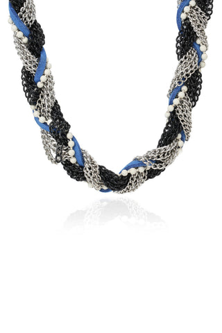 Svvelte Blue Coloured Braided Stainless Steel Chain, Women Chain, Svvelte - Svvelte