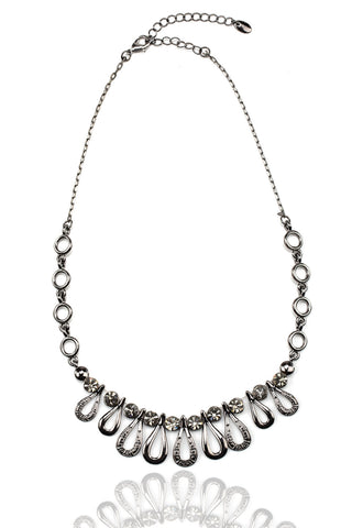 Svvelte Gunmetal Toned Necklace, Women Chain, Svvelte - Svvelte