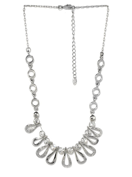 Buy Women Chain, Named Svvelte Silver Toned Necklace, from Svvelte, for Rs. 34.49