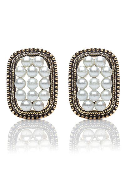Buy Women Earring, Named Svvelte Antique finish earings in Cylinderical shape with Pearls, from Svvelte, for Rs. 21.99