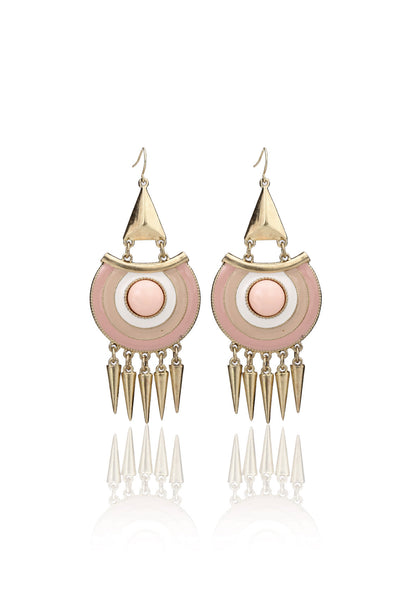 Svvelte Women - Peach Danglers Earrings, Women Earring, Svvelte - Svvelte