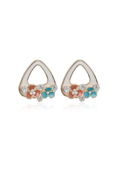 Svvelte Exclusive Unique Multicoloured Earrings with Swarovski, Women Earring, Svvelte - Svvelte
