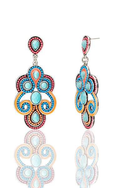 Svvelte Multicoloured Danglers, Women Earring, Svvelte - Svvelte