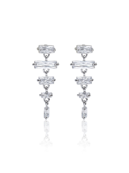 Buy Women Earring, Named Svvelte Silver Toned Earings with Cylinderical Swarovksi, from Svvelte, for Rs. 24.49