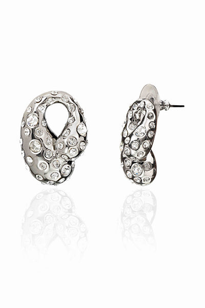 Svvelte Silver Toned Studded Earrings, Women Earring, Svvelte - Svvelte