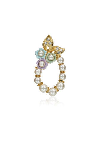 Buy Brooches, Named Svvelte Multicoloured Brooch with Pearls and Swarovski, from Svvelte, for Rs. 19.99