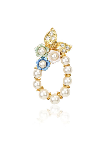 Svvelte Brooch with Pearls and Swarovski, Brooches, Svvelte - Svvelte