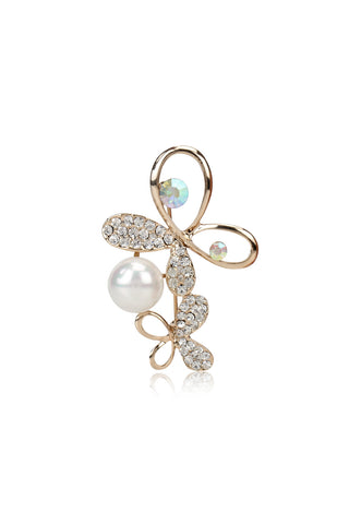 Buy Brooches, Named Svvelte Butterfly Brooch with Swarovski and Pearls, from Svvelte, for Rs. 22.99